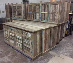 Reclaimed Wood Sideboard Shutter Door