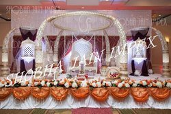 golden jali wedding mandap