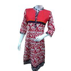 Jaipuri Black Strip Kurti