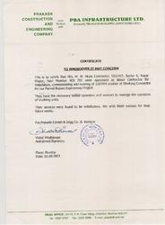 Contact Certificate