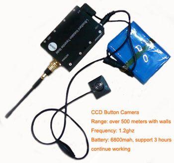 Spy Wireless Button Camera