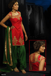 Readymade Salwar Kameez Golden Lace