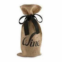 Wine Printed Wine Bag