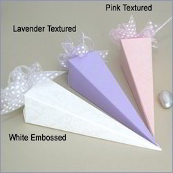 Favor Cone Boxes In Assorted Colors For Weddings