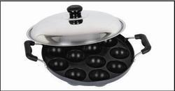 Appam Patra with Stainless Steel Rod Handle with Lid