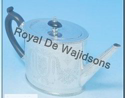 silver finish tea set