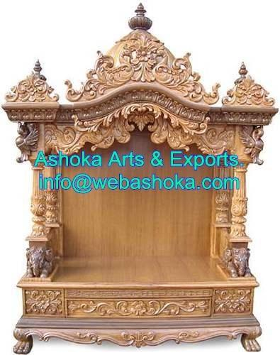Wooden Mandir Wooden Temple Design Wooden Temple For Home Manufacturer From Udaipur