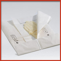 Polyethylene Coated Printed Paper Wrapper for Surgical Gloves
