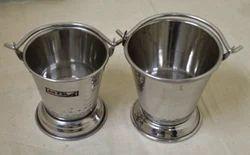 Hammered Stainless Steel Bucket