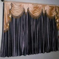 Scalloped curtains