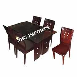 Glass Top Dinning Table 4 Seater