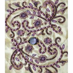 Pearl Stone Embroidery Work