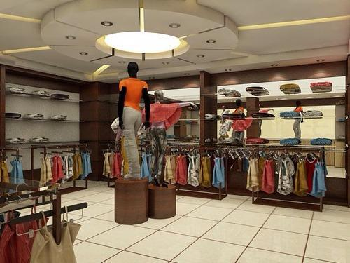 Commercial interior design service garment showroom for Showroom interior design