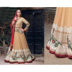 Georgette Anarkali Dress Material