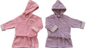Baby Girls Toweling Robe All-In-One.