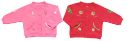 Baby Girls Flower Sweater In Fleece