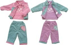 Corduroy 3-Piece Dress Set