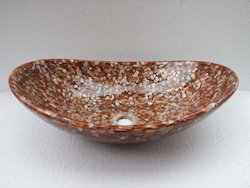 Brown Mother of Pearl Wash Basins