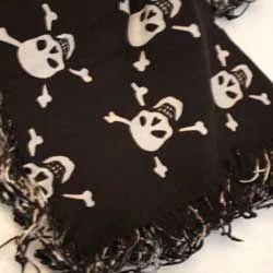 Black Skull Print Scarf