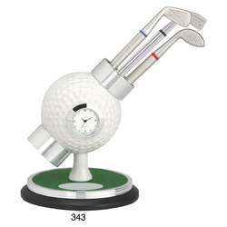 Golf Pen Stand with Watch
