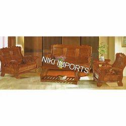 Double Wooden Sofa