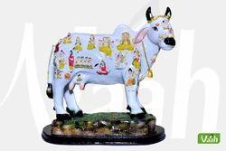 Vaah Polyresin Cow Statue