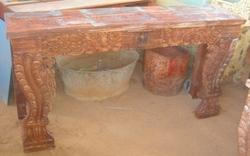 Wooden Carved Console Table