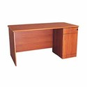 Office Table with Attached Drawer Pedestal