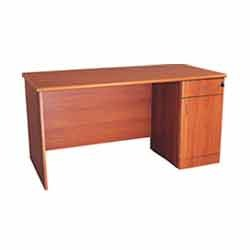 office wood table. Office Table With Attached Drawer Pedestal Wood
