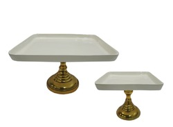 Square Footed Cake Stand