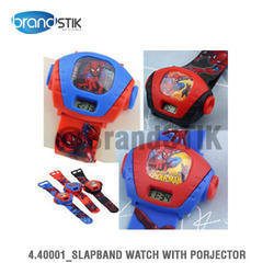 slap band watch with projector