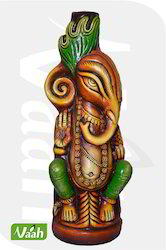 Vaah Terracotta Ganesha Vase