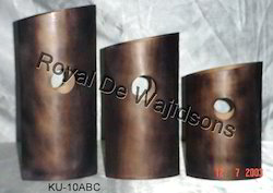 designer copper finish vase
