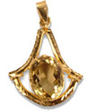Golden Topaz Pendant