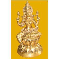 Laxmi Sitting On Lotus Statue