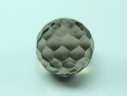 Smoky Faceted Honey Bead