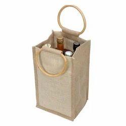Cord Handle Wine Bag