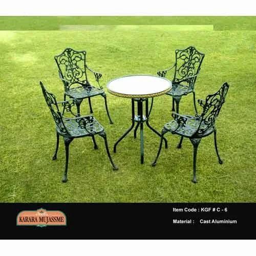 Antique Victorian Cast Aluminum Outdoor Chair Set