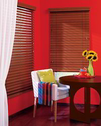 Chalet Wood Blinds Dining Room