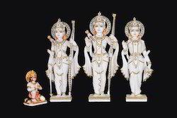 White Marble Ram Lakshman Sita Murti