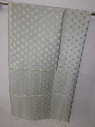 Gray Dot Printed Woven Stoles