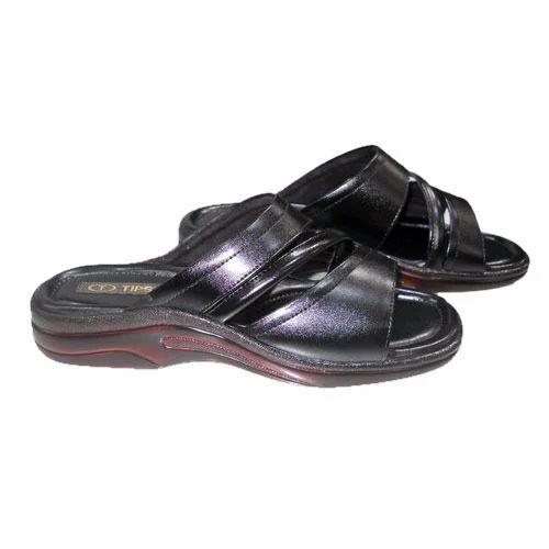 Men Black Slippers