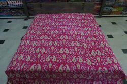 Cotton Kantha Multi Ikat Bed Cover