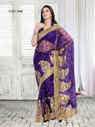Charming Violet Indian Designer Sarees
