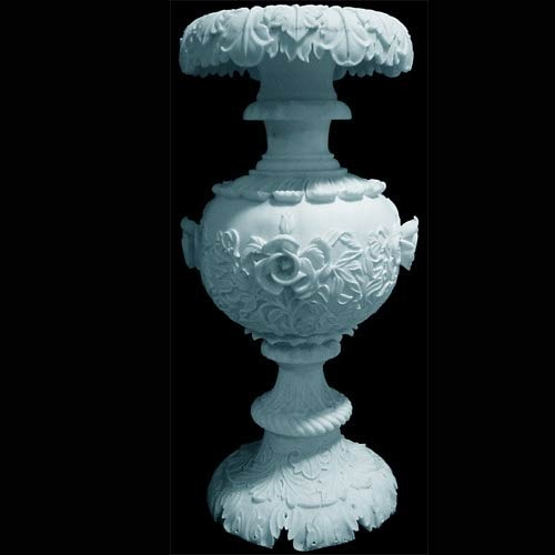 Marble Carved Flower Pot
