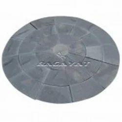Lime Black Circle Stone