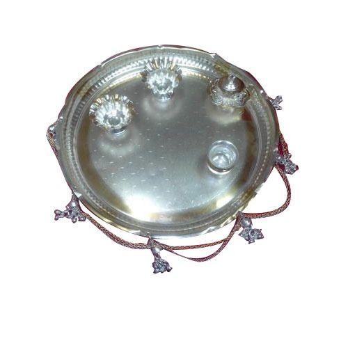 Silver Plated Pooja Thali  sc 1 st  IndiaMART & Silver Plated Pooja Thali - Wholesaler from Mumbai