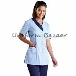 Spa uniform beauty work wear manufacturer from mumbai for Spa receptionist uniform design