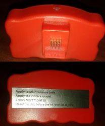 Maintenance Tank Chip Resetter