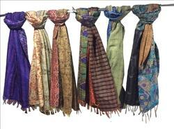 Vintage Silk Kantha Scarf Assorted